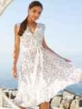 Платье молочного цвета без рукавов с V-образным вырезом 54251, фото 3
