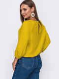 Свободная блузка с рукавом-реглан жовта 54326, фото 2