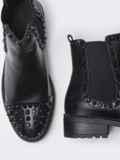 Демисезонные ботинки с шипами чёрные 51413, фото 2