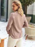 Бежевая рубашка в горошек с длинным рукавом 54505, фото 3