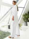 Костюм из рубашки со шлевками на рукавах и брюк белый 54127, фото 5