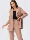 Костюм-тройка с пиджаком и блузкой бежевый 53800, фото 1