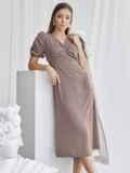 Приталенное платье бежевого цвета с V-образным вырезом 50051, фото 2