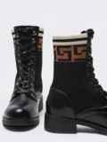 Демисезонные ботинки с текстильными вставками чёрные 51740, фото 3