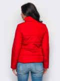 Красная демисезонная куртка с накладными карманами 15179, фото 2