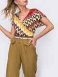 Укороченные брюки с завышенной талией цвета хаки 48440, фото 2