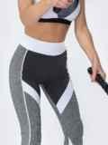 Лосины для фитнеса с контрастными вставками серые 44631, фото 3