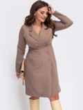Платье-пиджак батал бежевого цвета 55550, фото 1