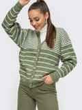 Зеленая кофта со спущенной линией плечевого шва 50196, фото 2