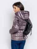 Демисезонная куртка серого цвета с капюшоном 40720, фото 3