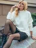 Белый свитер со спущенной линией плечевого шва 50210, фото 2