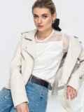 Шелковая блузка с гипюровой кокеткой белая 45711, фото 1