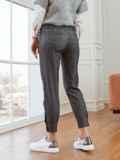 Черные брюки с высокой посадкой на молнии 53545, фото 2