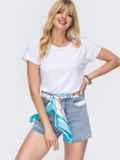 Базовая белая футболка из вискозы 49321, фото 1