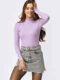 Гольф сиреневого цвета из вязаного трикотажа 55168, фото 1