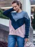 Розовый свитер из шерсти с акрилом в стиле oversize 50179, фото 2