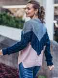 Розовый свитер из шерсти с акрилом в стиле oversize 50179, фото 3