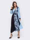 Голубое платье с принтом и асимметричным подолом 52966, фото 3