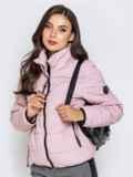 Куртка пудрового цвета с карманами на молнии 40626, фото 2