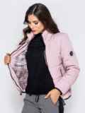 Куртка пудрового цвета с карманами на молнии 40626, фото 3
