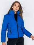 Куртка синего цвета с карманами на молнии 40628, фото 2