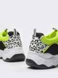 Белые кроссовки с контрастными вставками 51417, фото 5