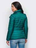 Зелёная куртка с потайными кнопками на полочке 12945, фото 3