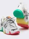 Кроссовки с контрастной подошвой белые 50455, фото 3
