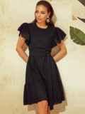 Черное платье с широким воланом по подолу 53950, фото 1