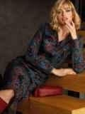 Чёрное платье-рубашка из трикотажа с принтом 52643, фото 2