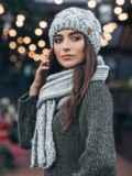 Комплект из шапки и шарфа светло-серый 15569, фото 2