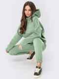 Спортивный костюм с худи и брюками мятного цвета 55592, фото 1