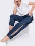 Джинсовые брюки синего цвета с талией на кулиске 47744, фото 2