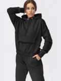 Черный спортивный костюм с худи и брюками-карго 55595, фото 1