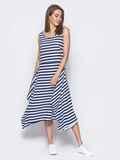 Платье в полоску с расклешенным низом черное - 11643, фото 1 –  интернет-магазин 38c307f540e