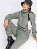 Брючный костюм из ангоры с кофтой зелёный 52851, фото 1