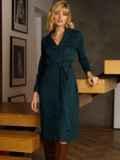 Зеленое платье из замши на пуговицах 52636, фото 2