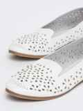 Балетки белого цвета с бусинами 47492, фото 2