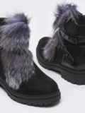 Демисезонные ботинки с меховой вставкой чёрные 51433, фото 3
