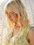 Прямоугольные очки без оправы с бежевыми линзами 54183, фото 2