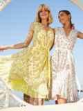 Желтое платье с V-образным вырезом без рукавов 54083, фото 2