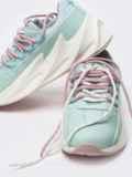 Мятные кроссовки из искусственной кожи с двойной шнуровкой 51259, фото 2