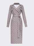 Платье на запах с английским воротником и принтом бордового цвета 53447, фото 5