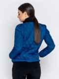 Стёганая куртка-бомбер синего цвета 40414, фото 3