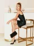 Черное платье на узких бретелях расшитое пайетками 52141, фото 3