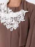 """Коричневое платье с рукавом """"реглан"""" и шарфом 42698, фото 3"""