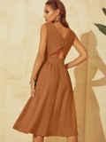 Расклешенное платье с оригинальным вырезом по спинке 54031, фото 4