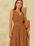 Расклешенное платье с оригинальным вырезом по спинке 54031, фото 5