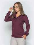 Фиолетовая блузка из софта с отложным воротником 39931, фото 2