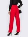 Красные брюки с разрезом спереди по штанине 53142, фото 4